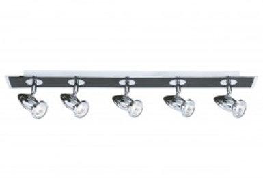 Comet Die Cast Aluminium Chrome & Black 5 Light Spot bar