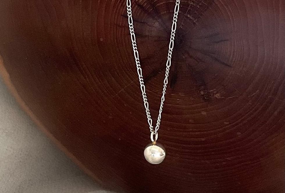 Minimalistic Silver Ball Necklace