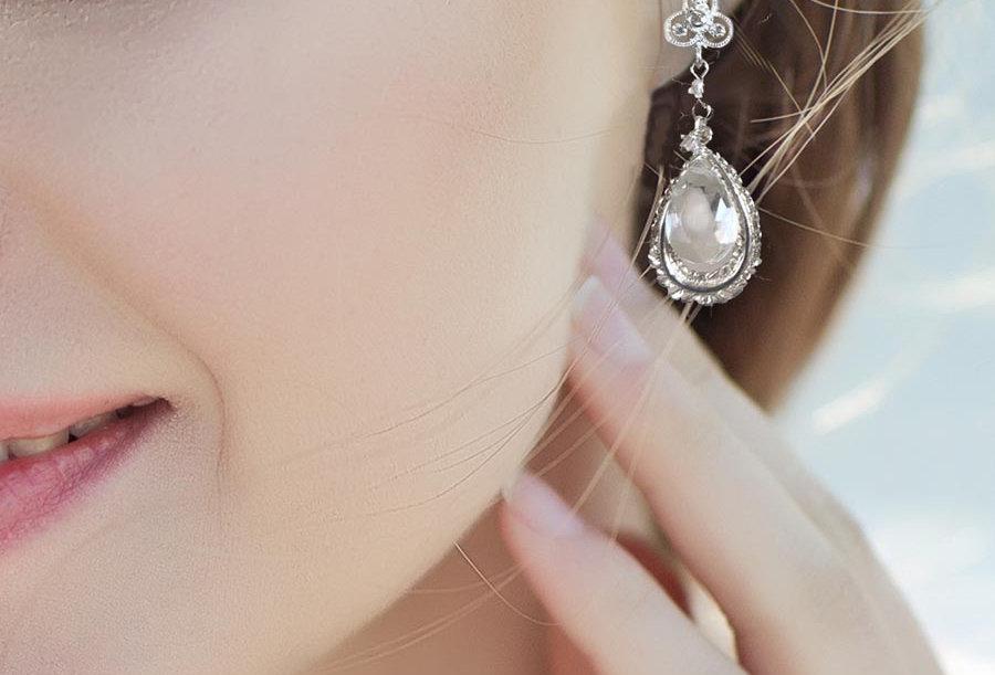Droplet Leaf Earrings