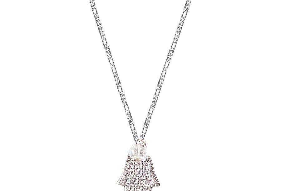 Crystal Hamsa Necklace