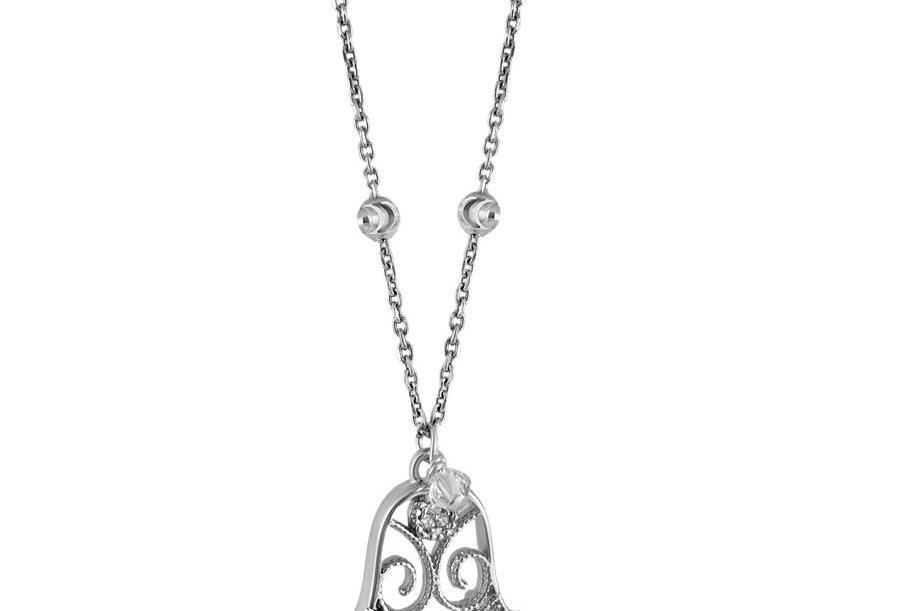 Crystal Hope Hamsa Necklace