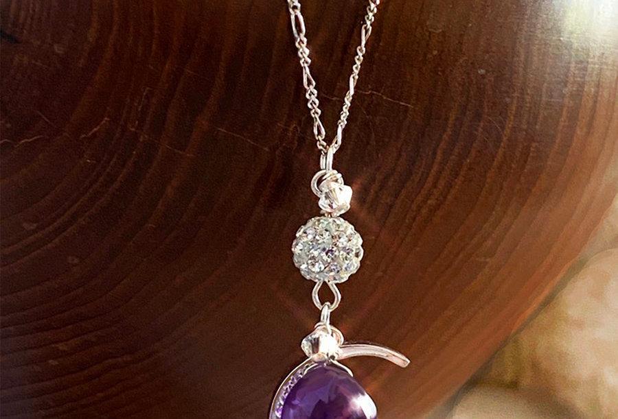 Amethyst- Moon Wish Necklace