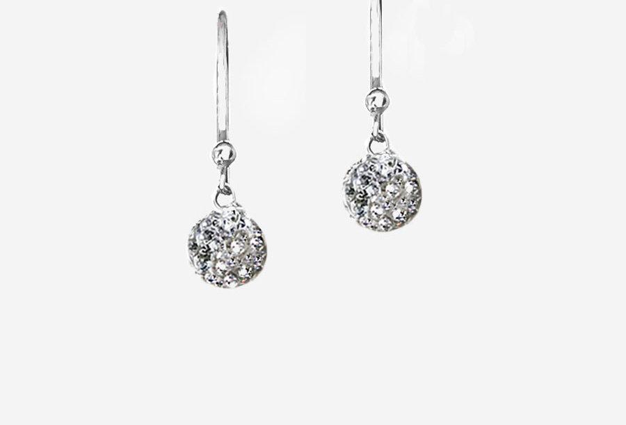 Pave Crystal Earrings