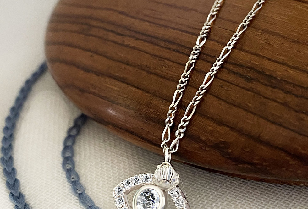 Crystal Protection Eye Necklace