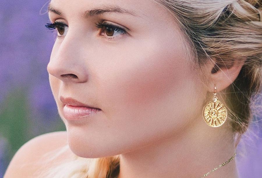 Sun Eye Coin Earrings