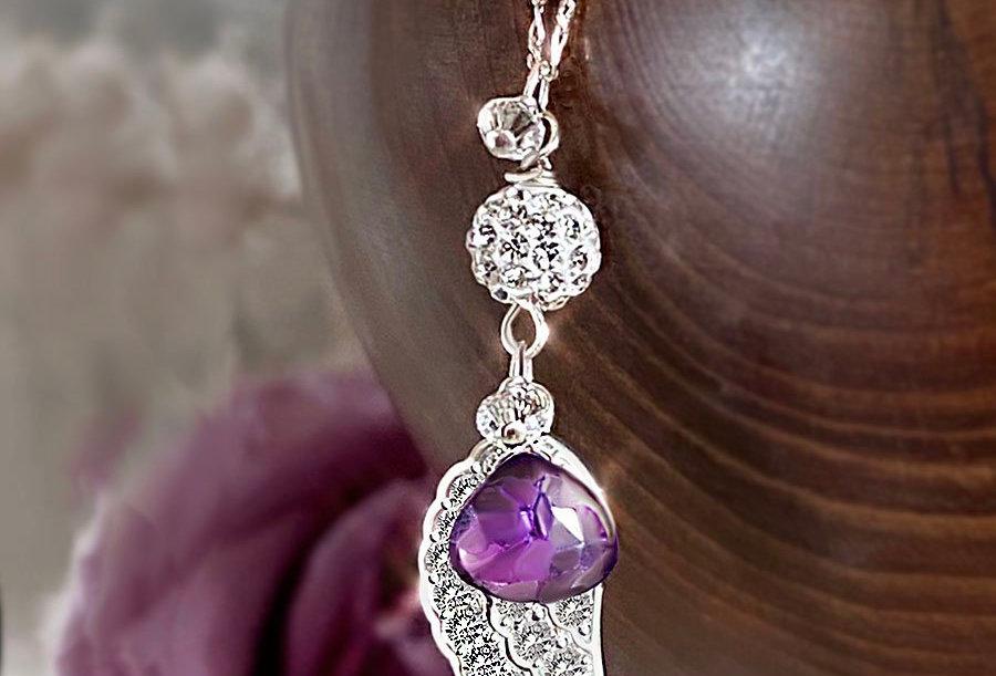 Amethyst - Angel Wish Necklace