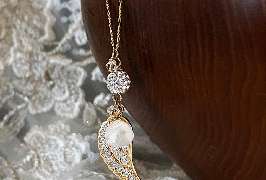 Moonstone - Angel Wish Necklace
