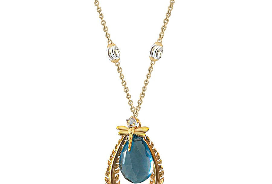London Blue Topaz Dragonfly Necklace