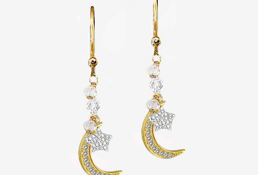 Love You to the Moon Earrings