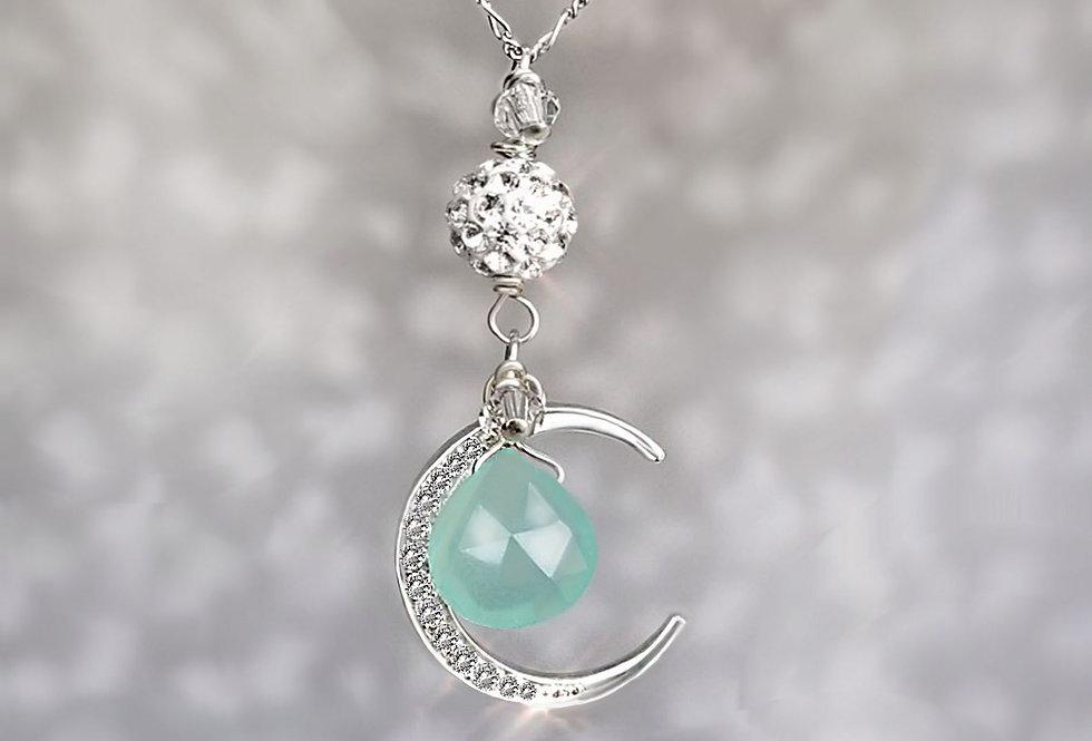Chalcedony - Moon Wish Necklace