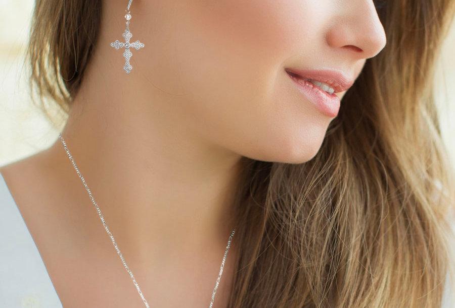 Elegant Cross Earrings