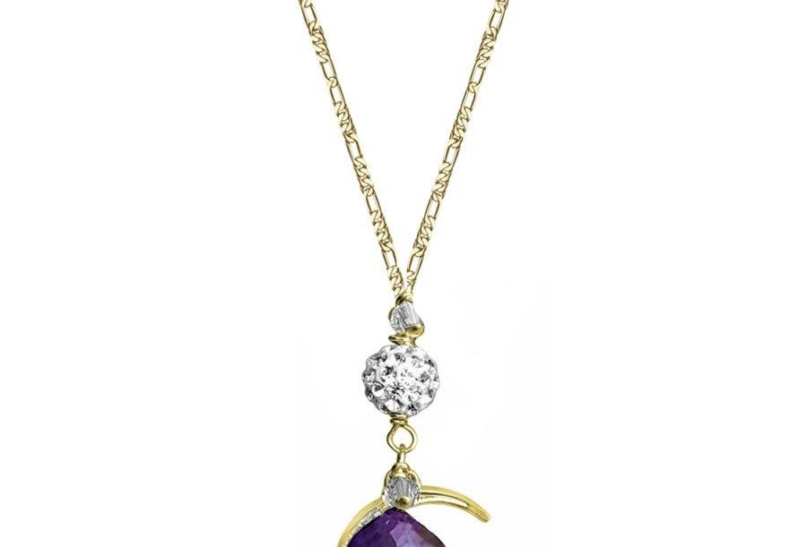 Amethyst - Moon Wish Necklace