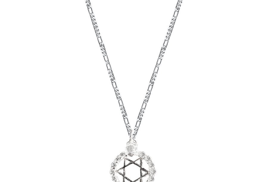 Crystal Star of David Necklace