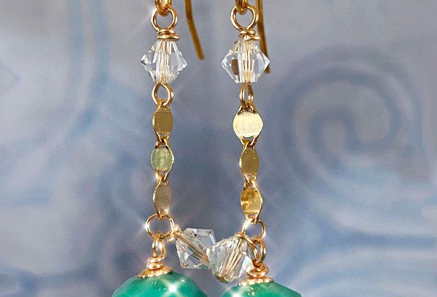 Fancy Turquoise Earrings