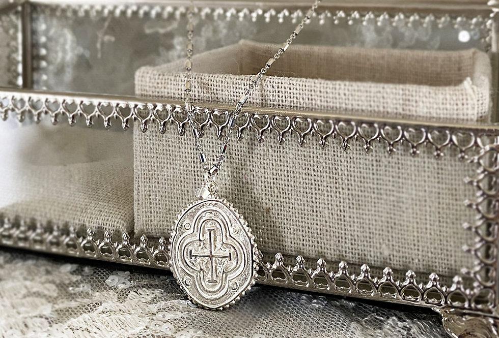 Byzantine Coin Cross Necklace