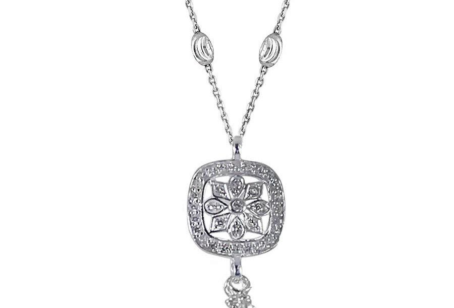 Floral Square Necklace