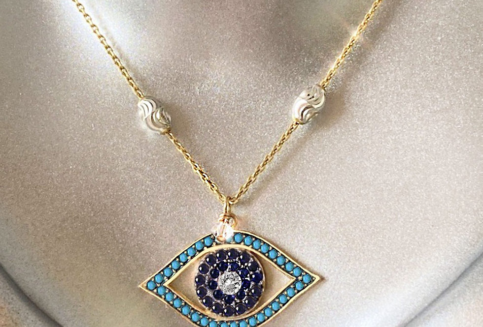 All Seeing Eye - Oval Bead Necklace