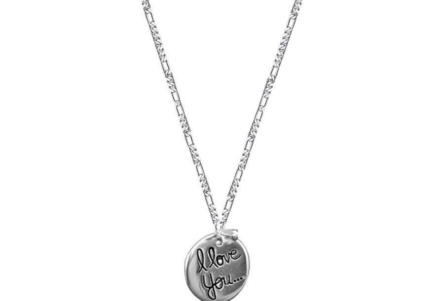 I Love You Coin Necklace