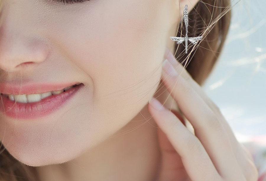 Sky Lit Dragonfly Earrings