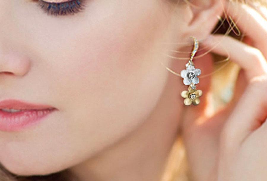 Double Floral Earrings