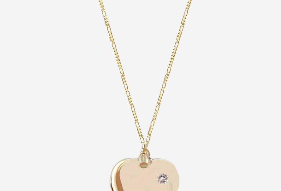 One Crystal Heart Necklace