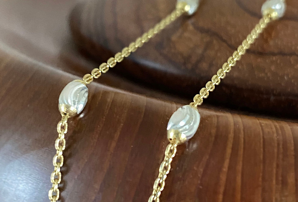 Oval Bead Station Chain