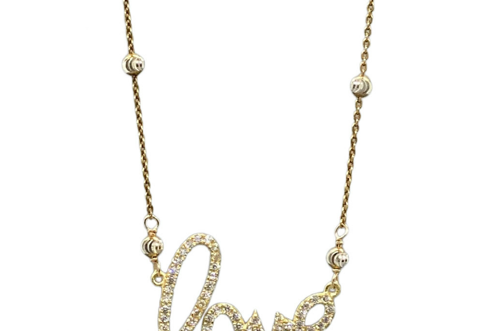 Love Word Necklace