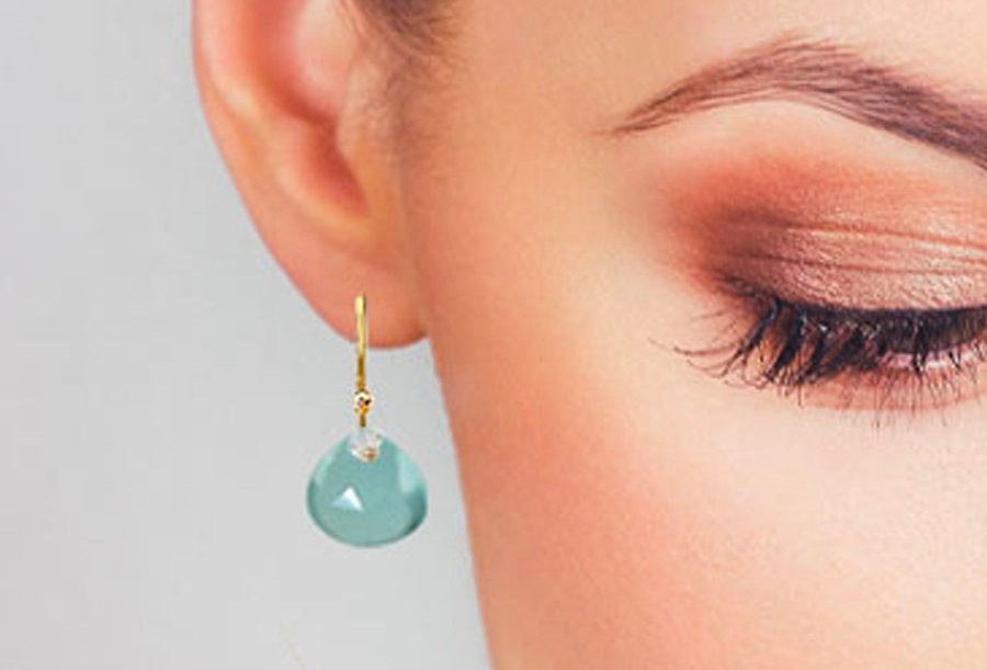 Teardrop Chalcedony Earrings
