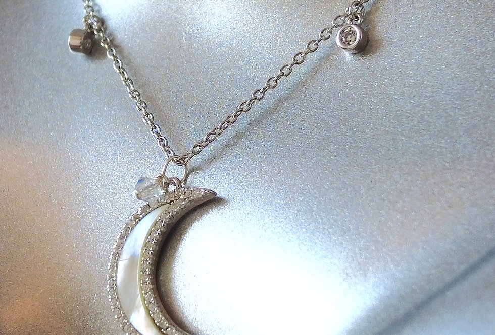 Charmed Pearl Moon Necklace