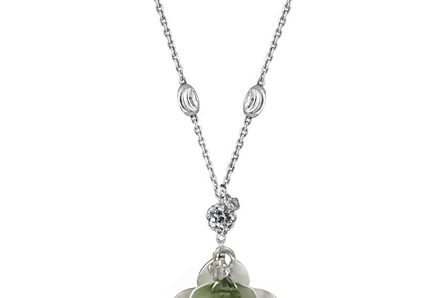 Peridot - Lotus Blossom Necklace