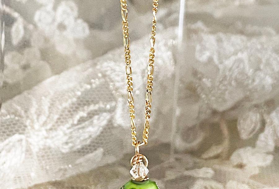 Green Cloisonne Necklace