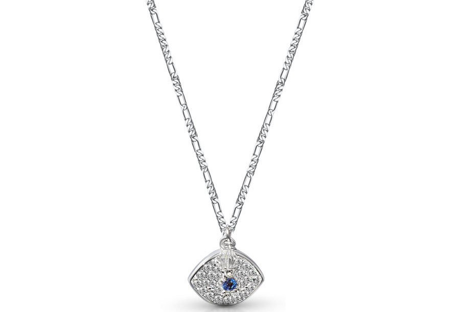 Crystal Blue Protection Eye Necklace