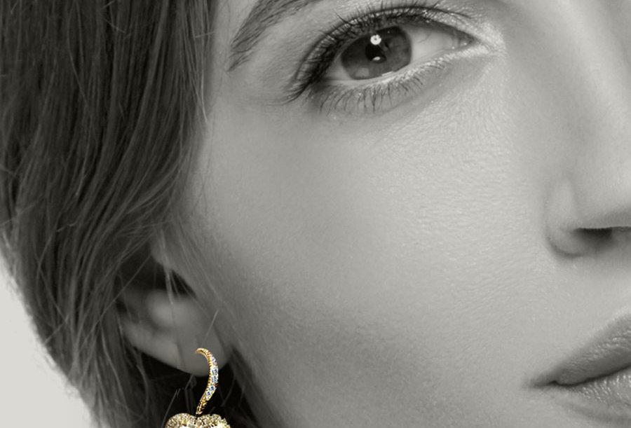 Simple Heart of Gold Earrings