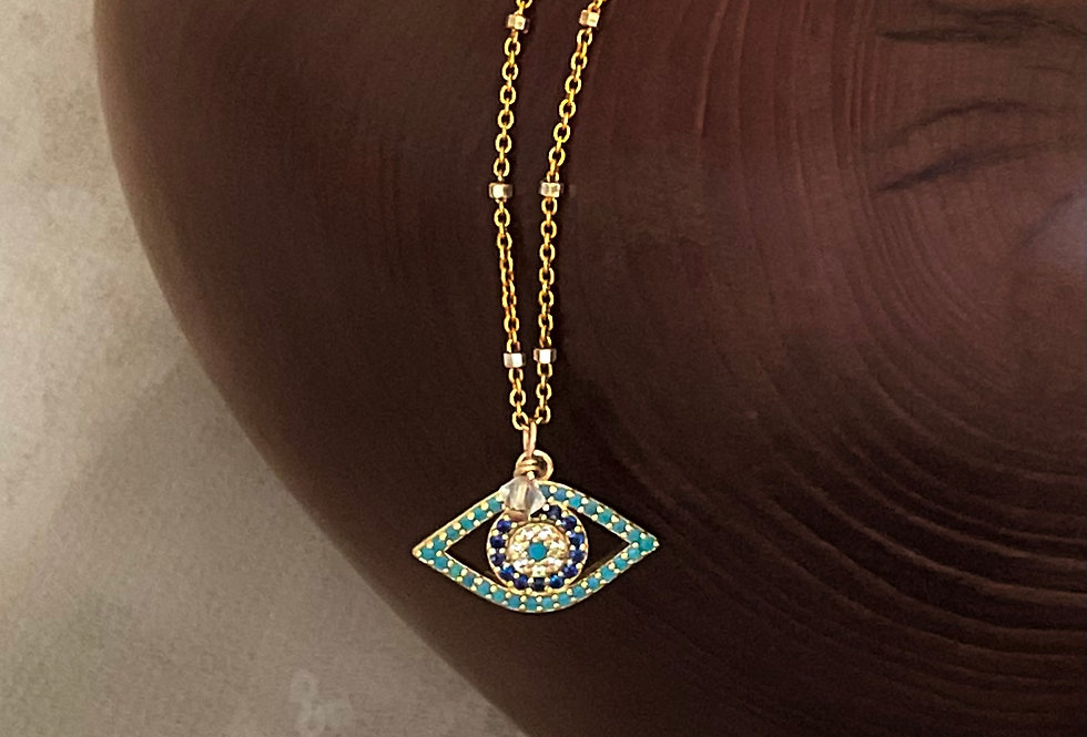 Modern Protection Eye Necklace
