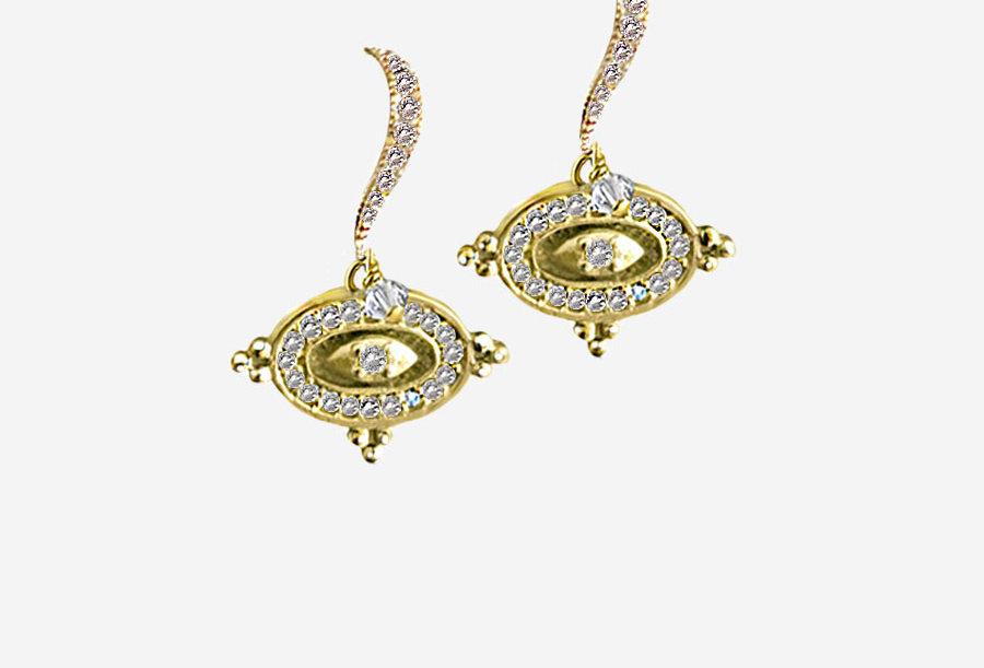 Diamond Eye Earrings