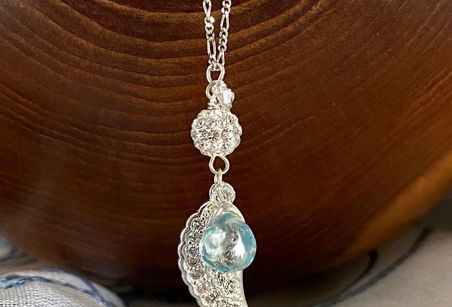 Blue Topaz - Angel Wish Necklace