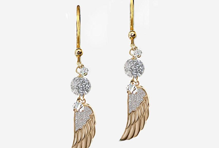 Minimalist Angel Wing Earrings