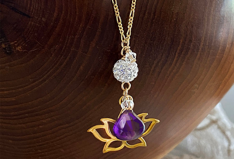 Amethyst - Lotus Wish Necklace