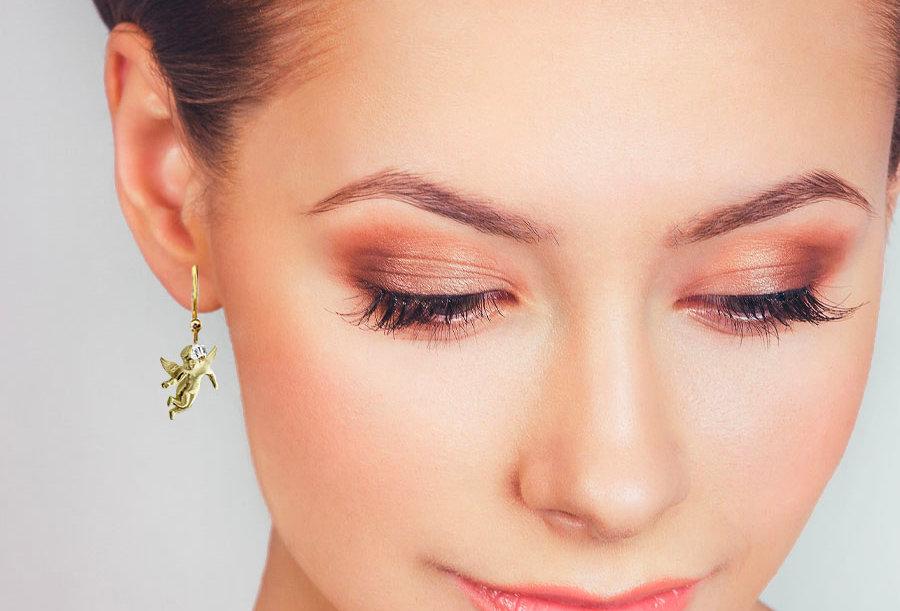 Flying Cherub Earrings