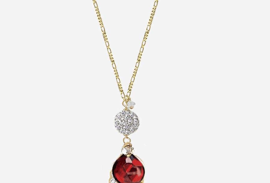 Garnet - Angel Wish Necklace