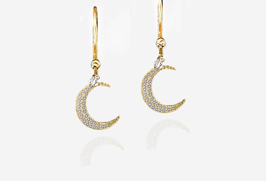 Simple Moon Earrings