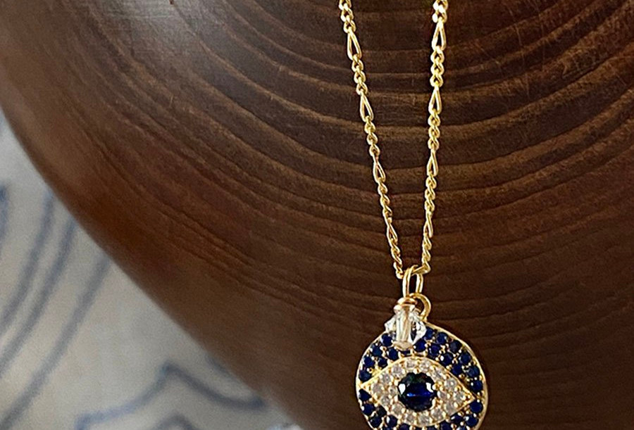 Sapphire Blue Eye Necklace