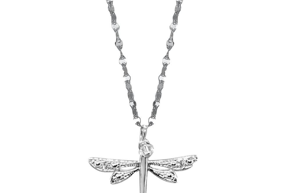 Sky Lit Dragonfly Necklace