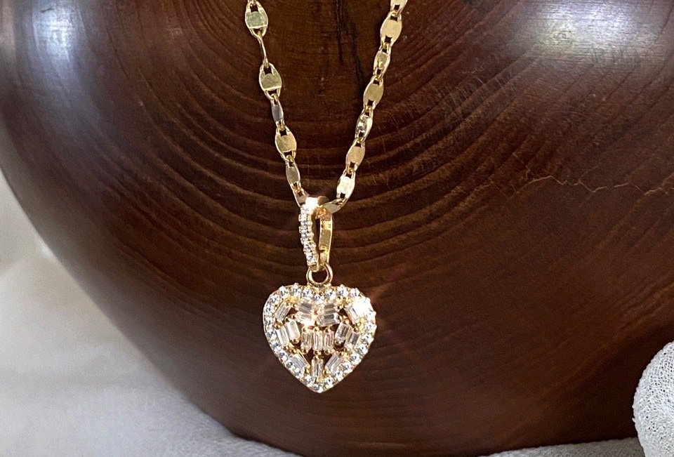 Italian Heart of Gold Necklace