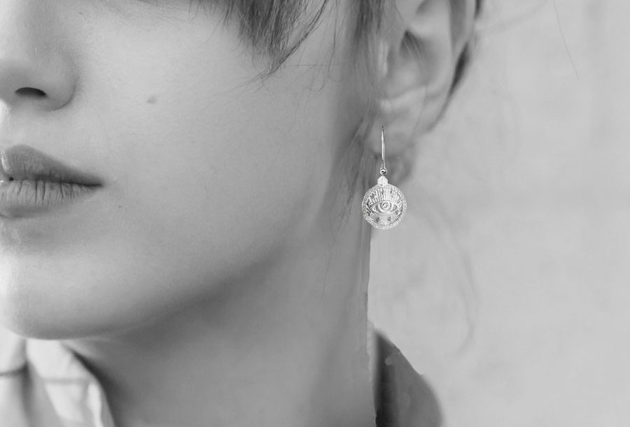 Protection Eye Coin Earrings