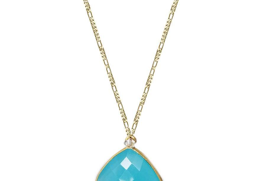 Raindrop - Chalcedony Necklace