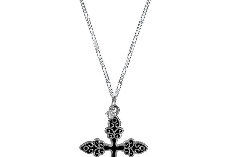 Black Unique Cross Necklace