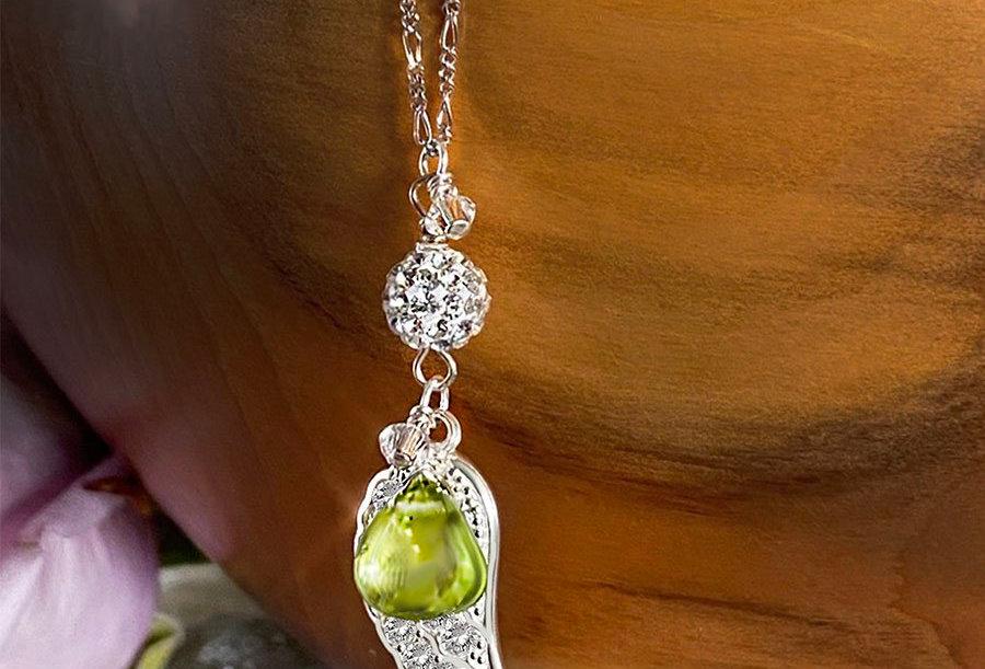 Peridot - Angel Wish Necklace