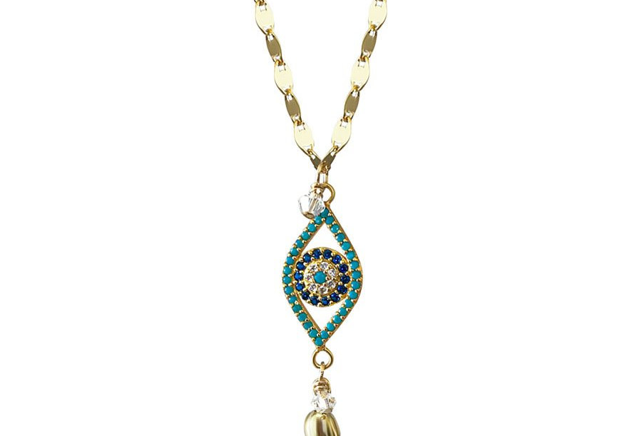 Gold Lucky Eye Necklace