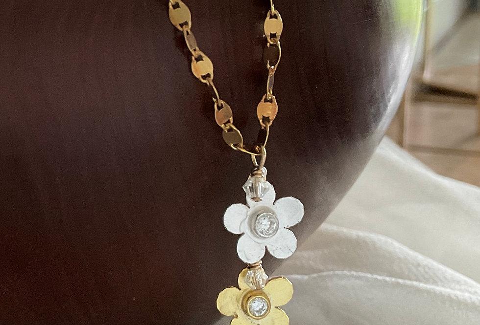 Double Floral Necklace